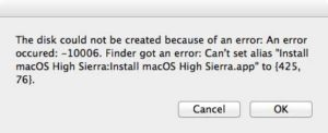 How to create a macOS High Sierra boot disk